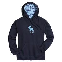 Moose Printed Hood Pullover