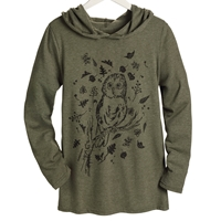 Owl Hooded Shirt