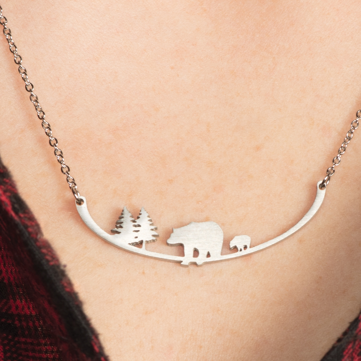 Bear Trees for Wildlife Necklace