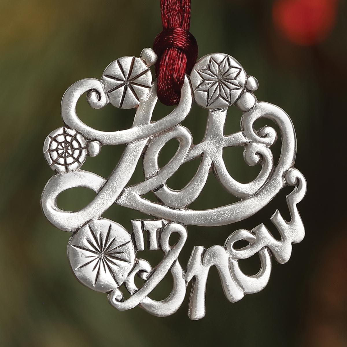 Let It Snow Plant a Tree Ornament