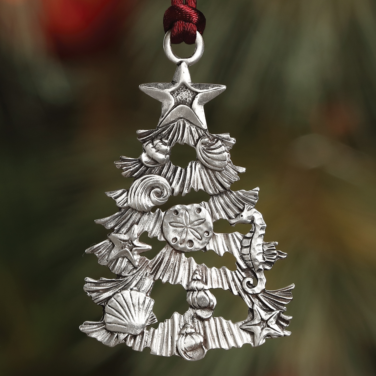 Nautical Christmas Tree Plant a Tree Ornament