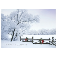 Frosty Winter Fence Card