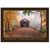 Patriotic Covered Bridge Card