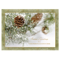Frosty Pine Cone Card