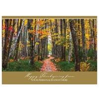 Jessup Path in Fall Card