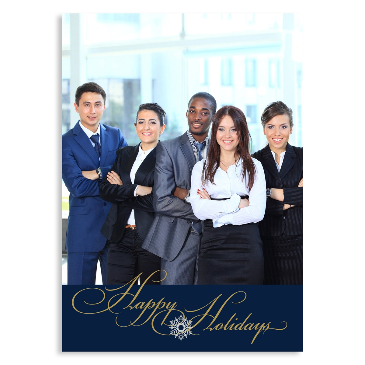 Happy Holidays Photo Card - Vertical