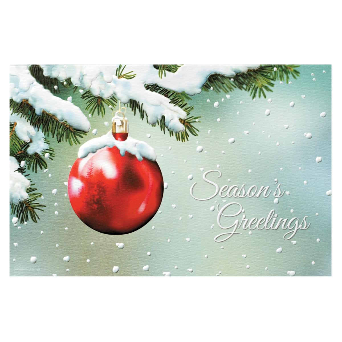 Scarlet Winter Card