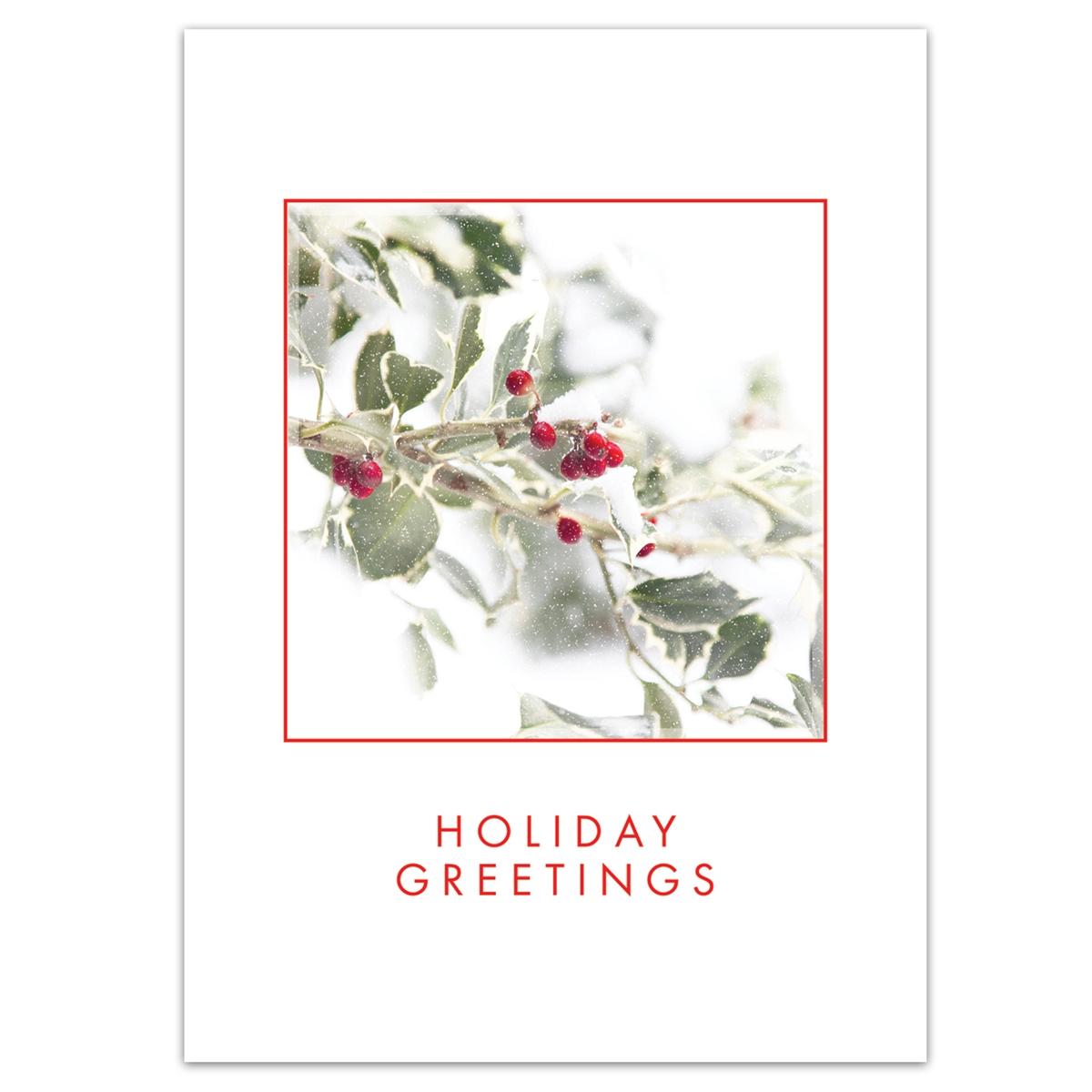 Holly Greetings Card