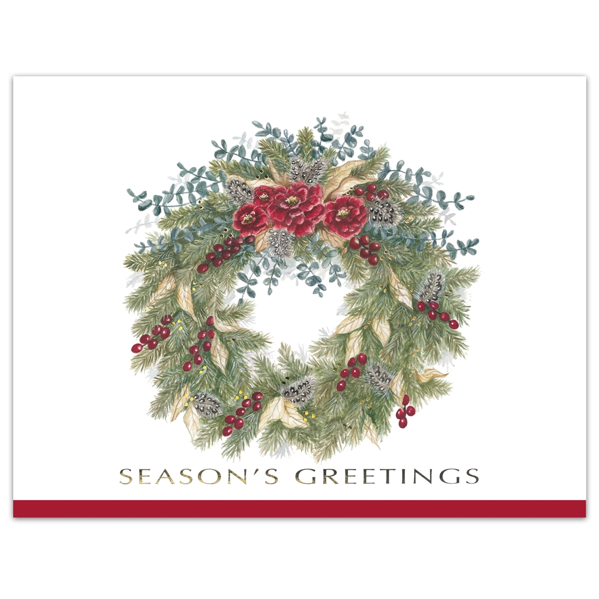 Luxurious Wreath Card