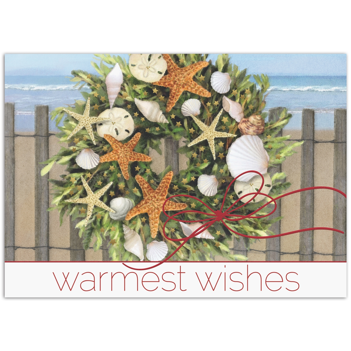 Warm Wishes Wreath Card