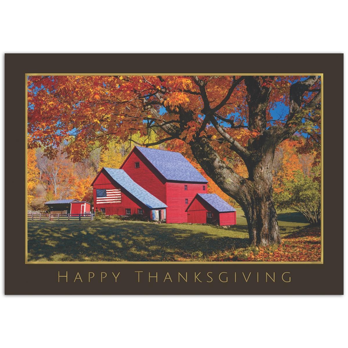 Patriotic Thanksgiving Card