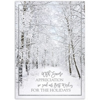 Frosted Appreciation Card