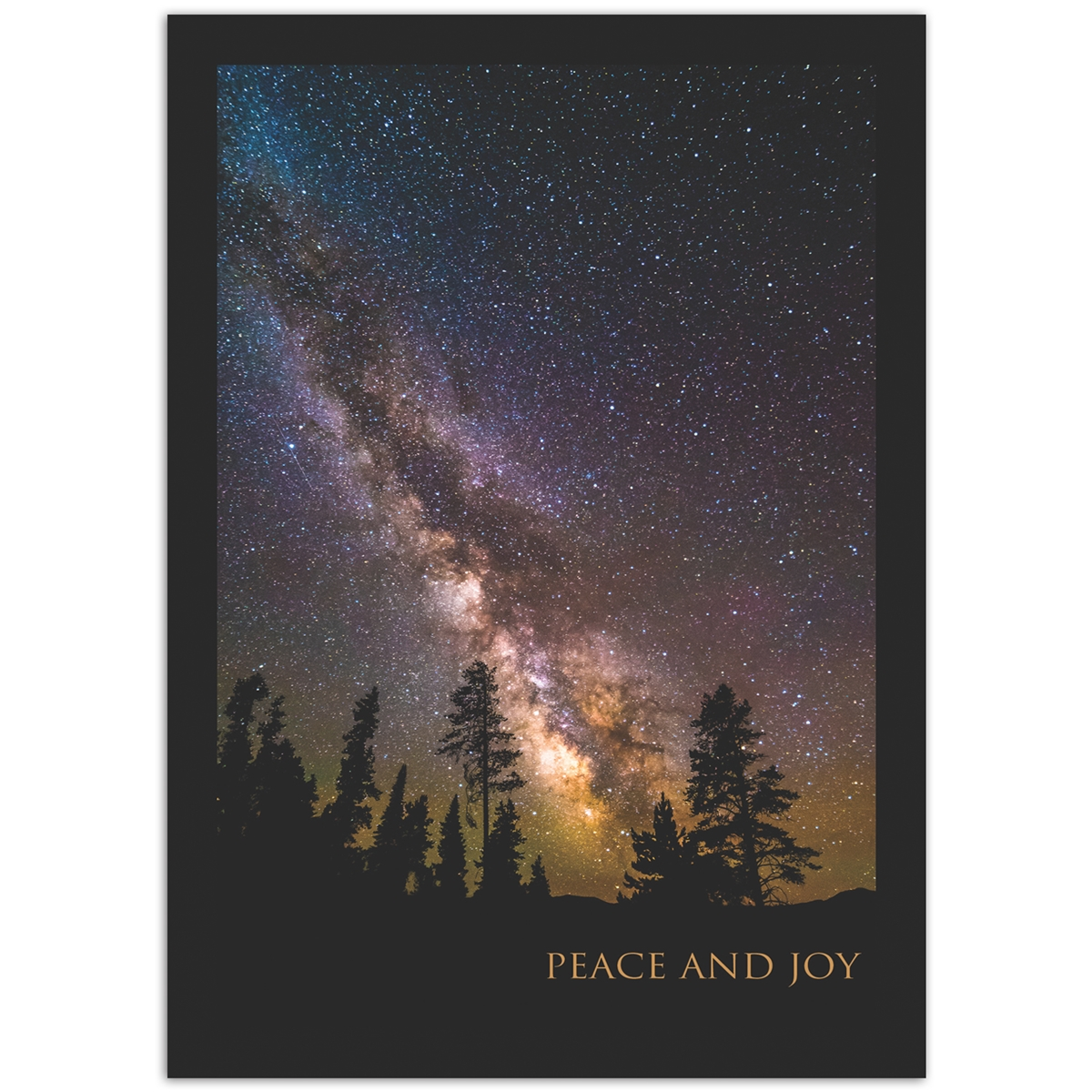 Milky Way Over Trees Card