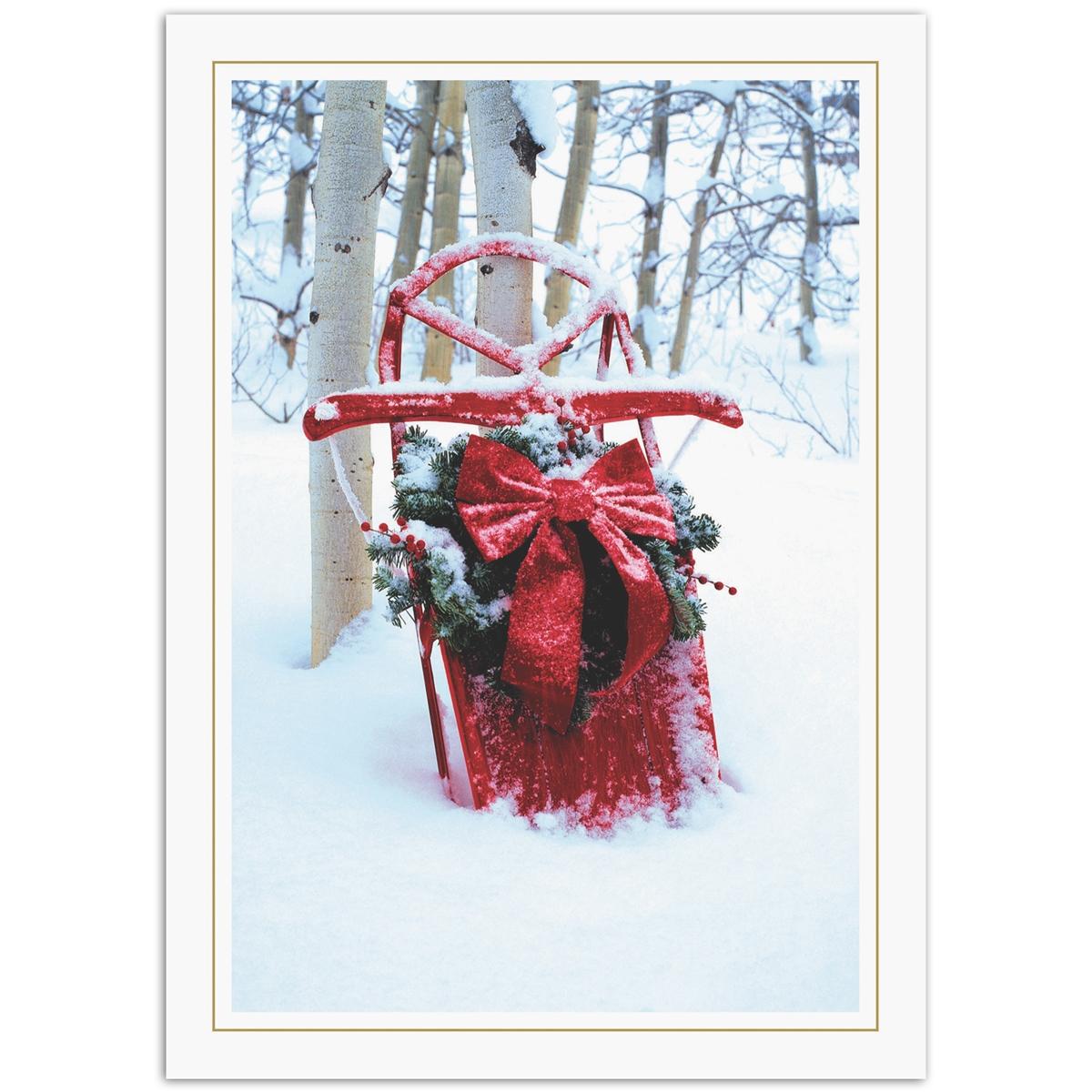 Holiday Sled Card