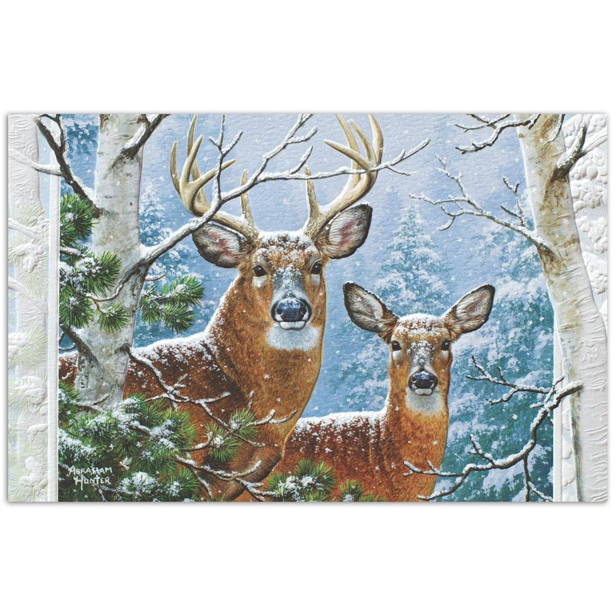 Whitetail Winter Card