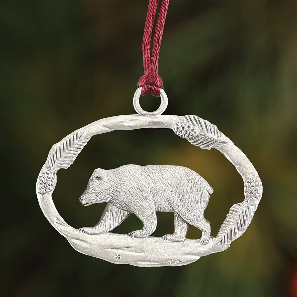 Bear Plant a Tree Ornament