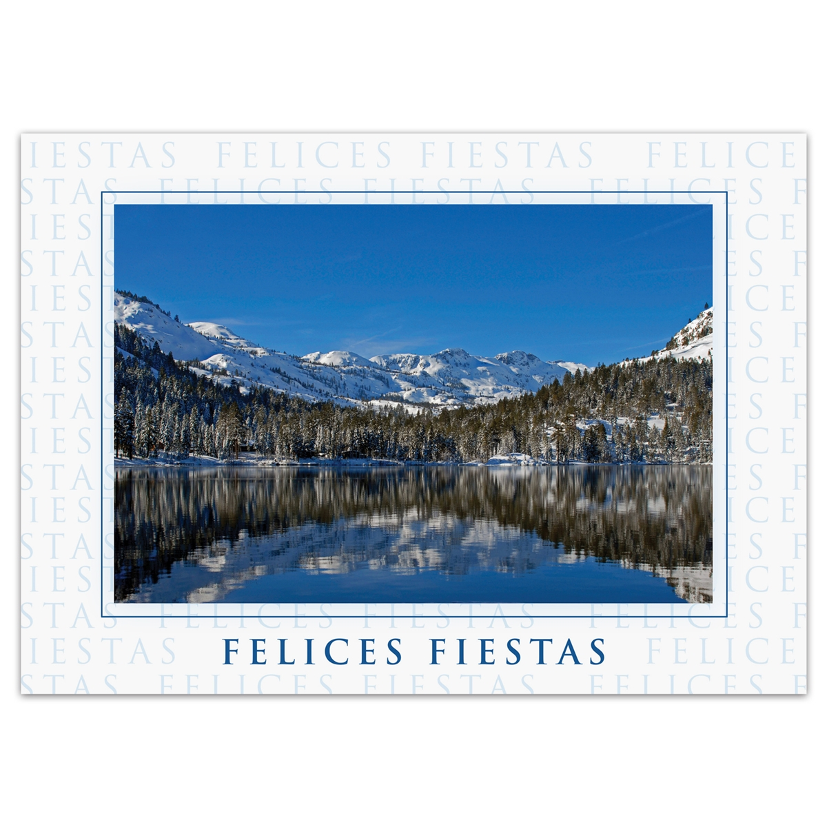 Tahoe Reflection Card - Spanish