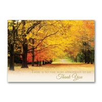 Autumn Thanks Holiday Cards
