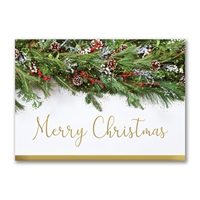 Festive Garland Holiday Cards