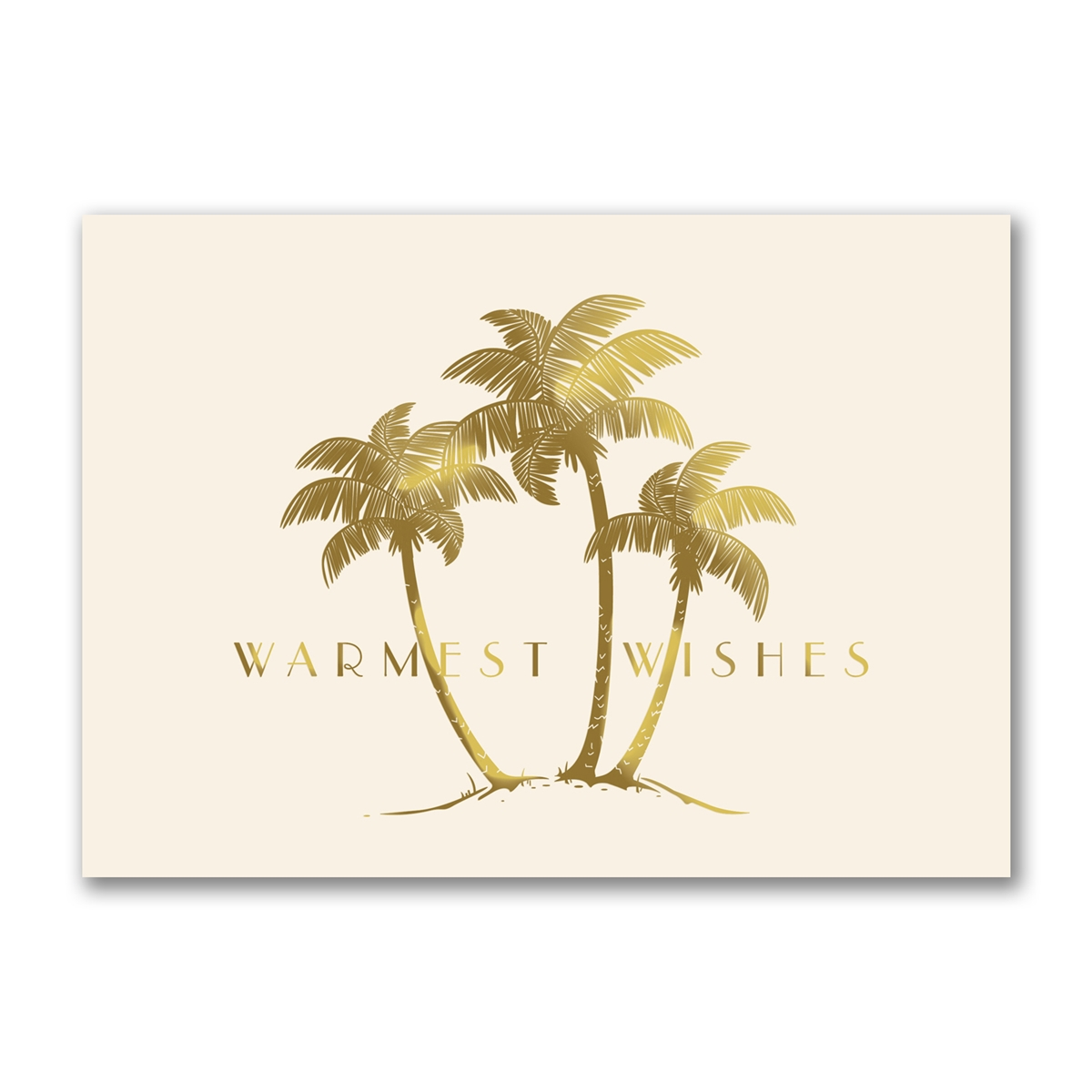 Golden Palms Holiday Cards