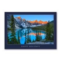 Sunrise at Lake Moraine Holiday Cards