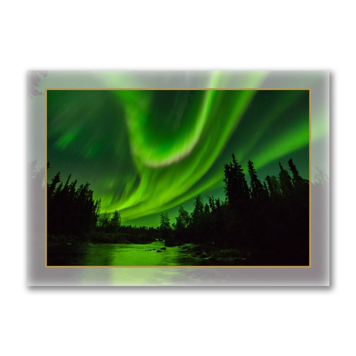 Aurora over Cameron River Holiday Cards