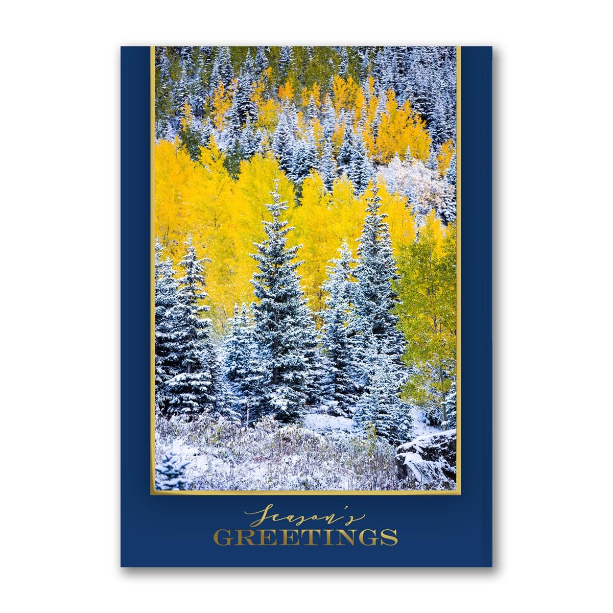 Aspen's Autumn Snow Holiday Cards
