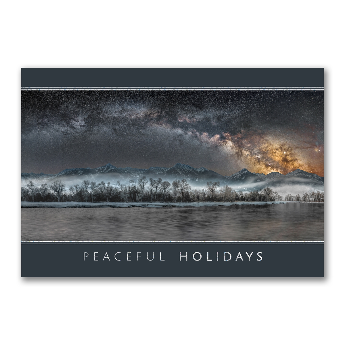 Cold Night on the Yellowstone Holiday Cards