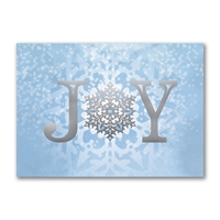 Joy Snowflake  Holiday Cards