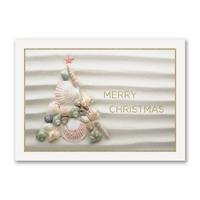 Shell Tree Holiday Cards