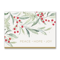Watercolor Greenery Holiday Cards