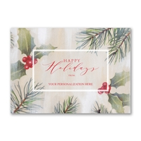 Watercolor Pine Holiday Cards