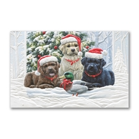 Lab Pup Trio Holiday Cards