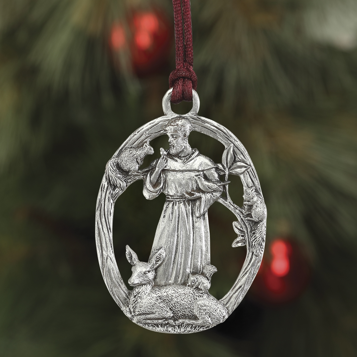 St Francis Plant a Tree Ornament