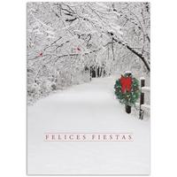 Snowy Lane Card - Spanish